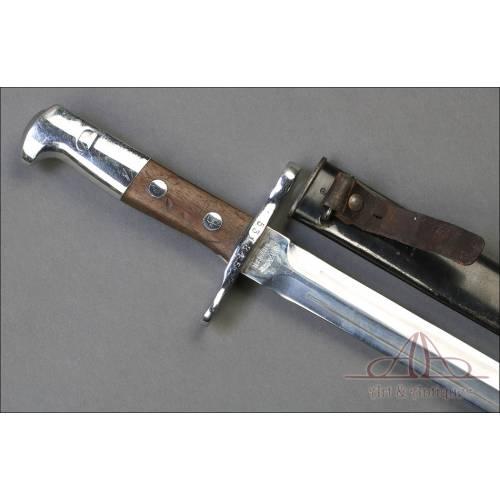 Antigua Bayoneta Suiza Modelo 1889 para Schmidt-Rubin. Suiza, Circa 1895