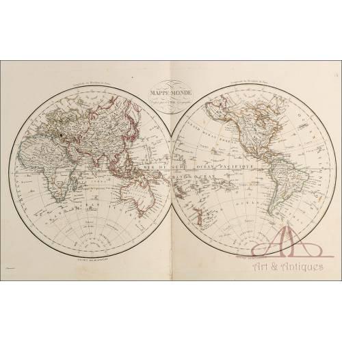 Antiguo Atlas con 42 mapas. Gran Folio. ¡Completo! 1824