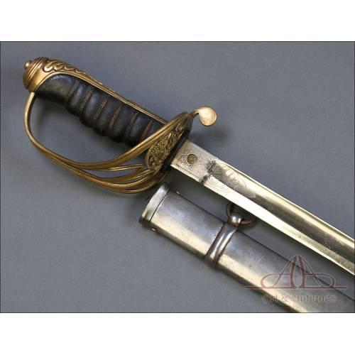 Bonita Reproducción de la Espada Británica Modelo 1845 para Oficial de Infantería.