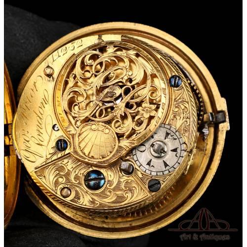 Antiguo Reloj de Bolsillo Otomano. Catalino. George Prior. Londres, Circa 1775