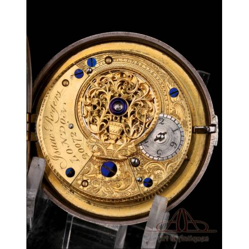 Precioso Reloj de Bolsillo Catalino Isaac Rogers de Doble Caja. Londres, Circa 1796