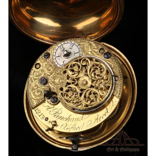 Antiguo Reloj de Bolsillo Catalino Abel Panchaud de Doble Caja. Londres, Circa 1800