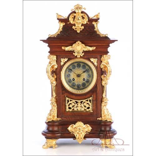 Antiguo Reloj de Sobremesa Alemán Lenzkirch. Alemania, Circa 1900