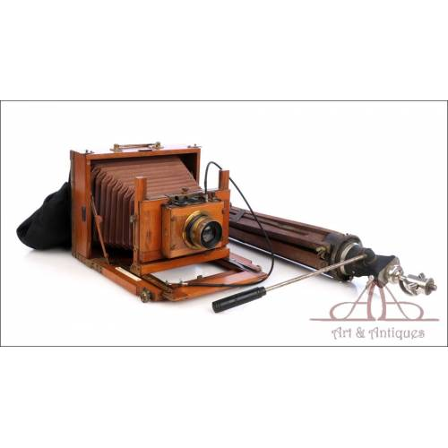 Antiguo Equipo Fotográfico con Objetivo Carl Zeiss. Circa 1900