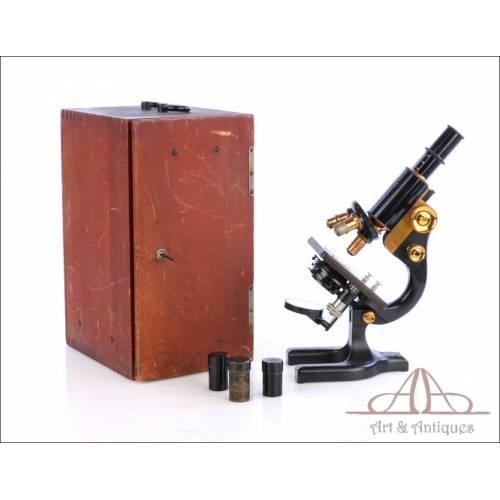 Antiguo Microscopio Spencer. USA, Circa 1920