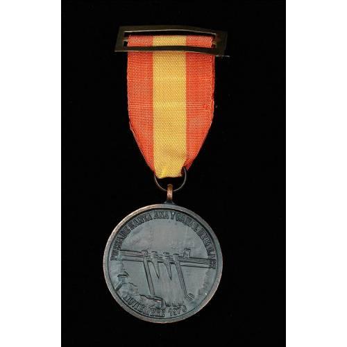 Medalla de la Inauguracion de la Presa de Santa Ana y del Canal de Enlace, Noviembre 1970