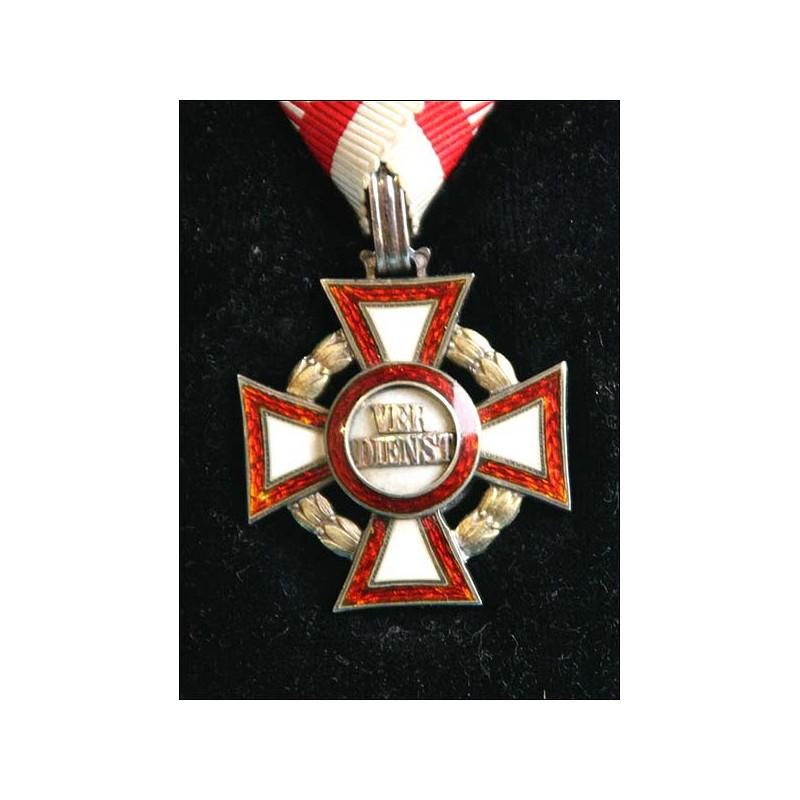 Austria. Cruz al Mérito Militar. Medalla III Clase.
