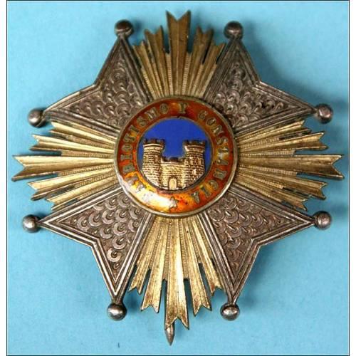España. Placa de la Milicia Nacional. 1843