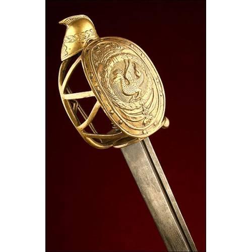 Espectacular Espada de Caballería Pesada Danesa. Ca. 1750.