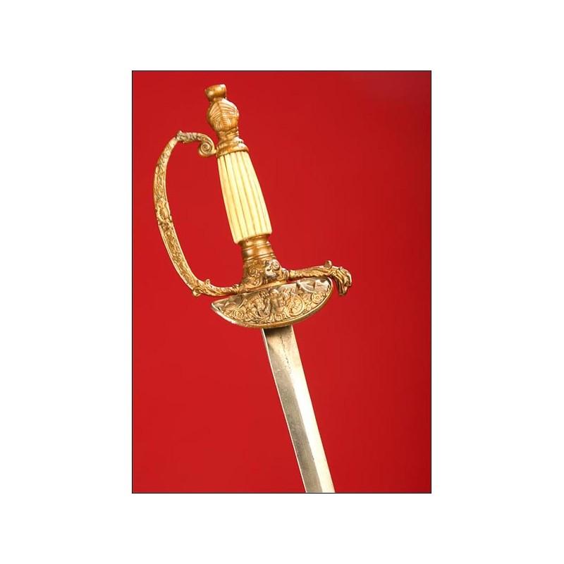 Preciosa Espada de Oficial Francés, Época Restauración.