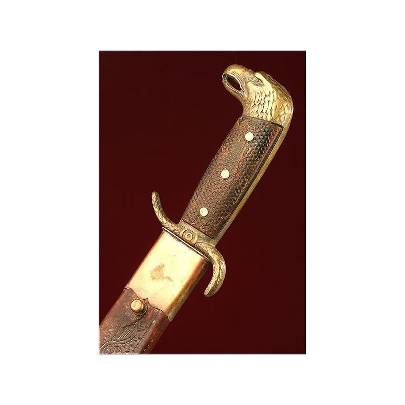 Machete Collins & Co. Para Oficial del Ejército Cubano, Estados Unidos, Finales Siglo XIX