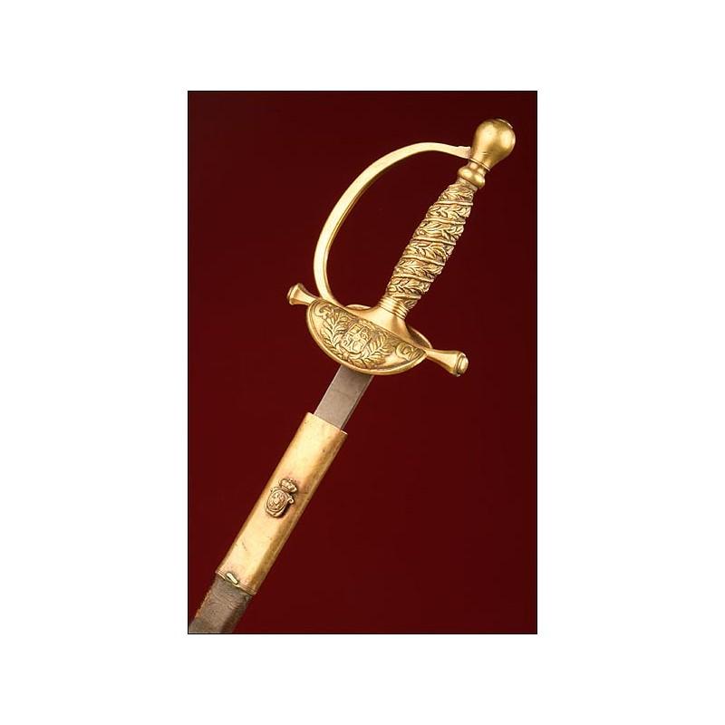 Espada Española para Sargento de la Guardia Civil, Modelo 1844