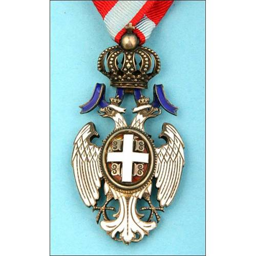 Servia. Orden del Aguila blanca. Magnífica
