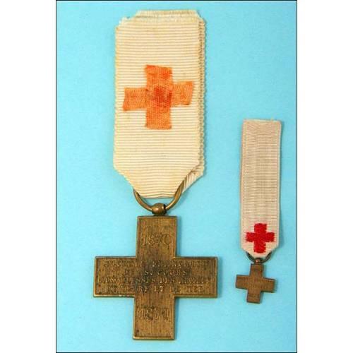 Francia. Medalla Cruz Roja. Guerra Franco-Prusiana 1870-1871