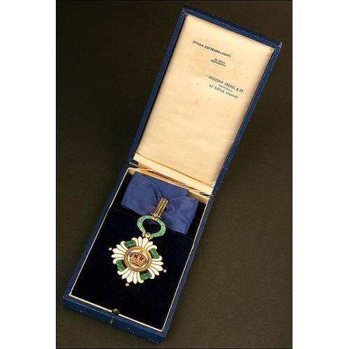Medalla de la Orden de la Corona Yugoslava (1930-1945) con Estuche Original
