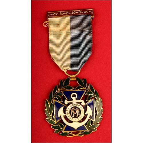 Medalla al Mérito Naval. II Clase. Cuba, Época de Batista. (1940-1959)