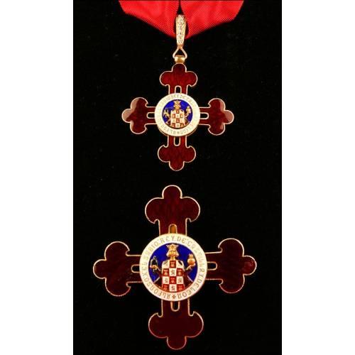 España, Orden de Alfonso X el Sabio. Plata, oro y diamantes. Años 60
