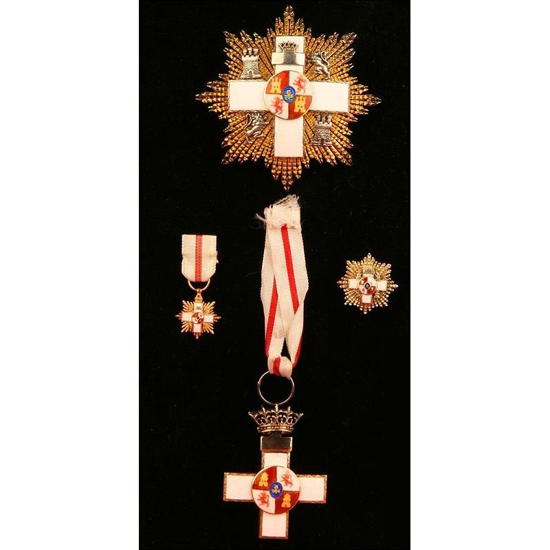 España, Orden al Mérito Militar. Distintivo Blanco. Años 60