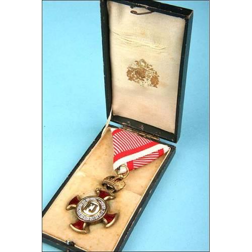 Austria. Cruz al mérito militar 1ª clase