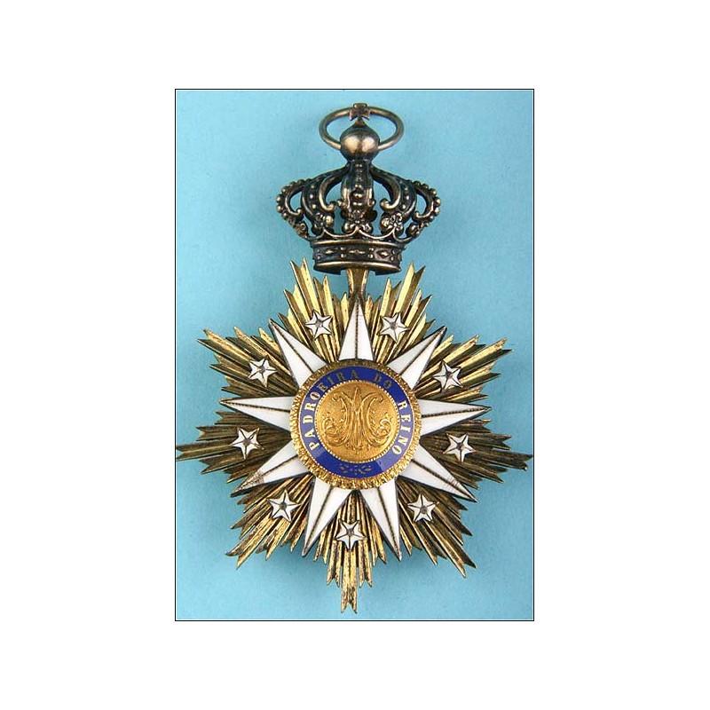 Portugal. Orden de Villa Viciosa. Gran cruz.