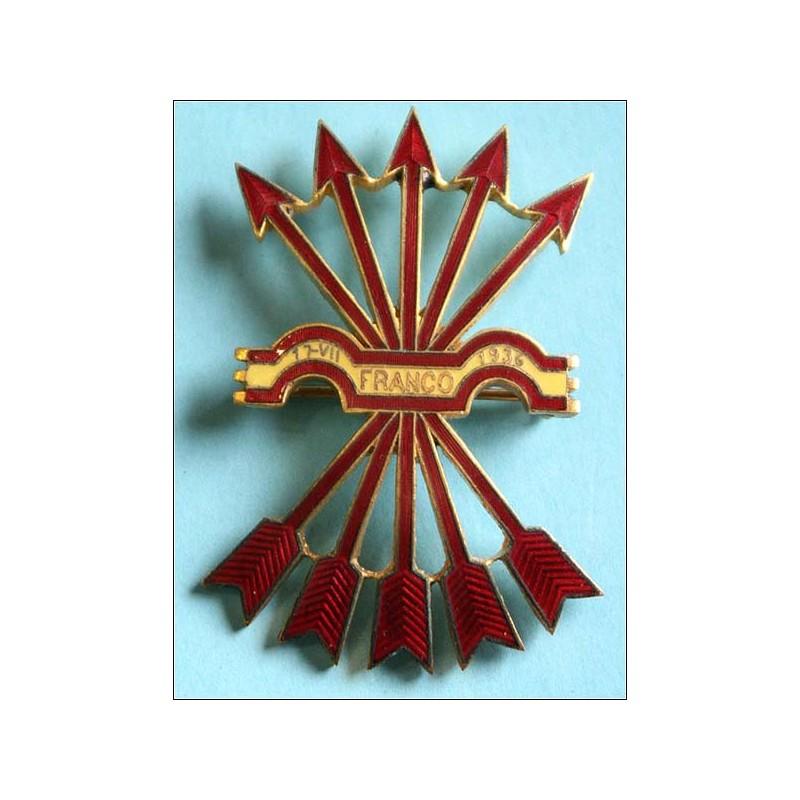 Gran insignia de la Falange franquista.