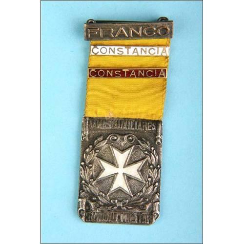 España. Medalla Sanidad militar. Damas Auxiliares