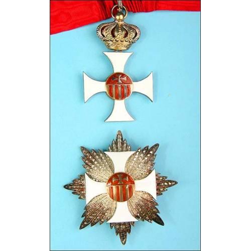 España-Vaticano. Orden de la Merced. Con su estuche.