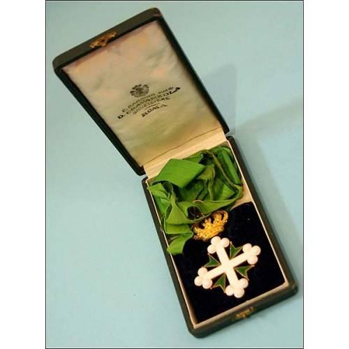 Italia. Orden de San Mauricio y Lázaro. Oro