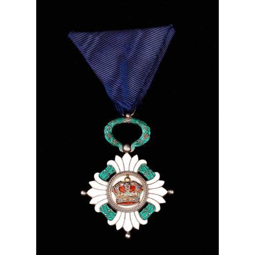 Orden de la Corona de Yugoslavia en grado de Oficial. Años 30-40 del Siglo XX