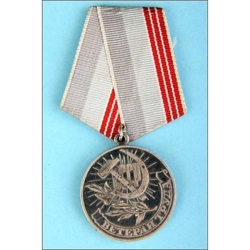 URSS. Medalla de Veterano del trabajo