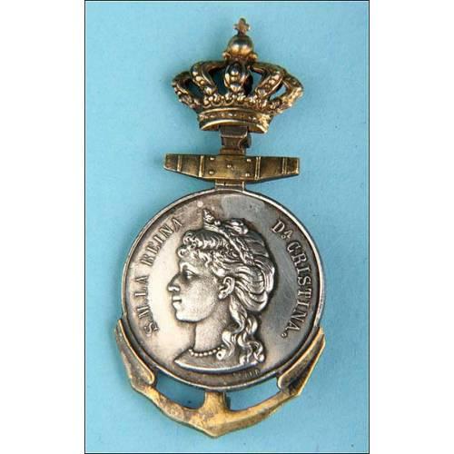 España. Medalla de la Sociedad Española de salvamento de Náufragos. 1880