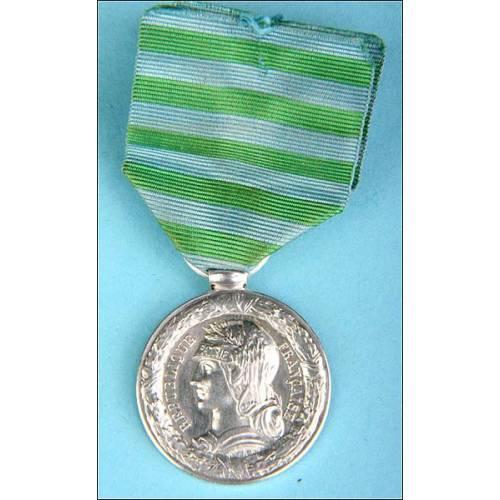 Francia. Medalla de la campaña de Madagascar. 1886