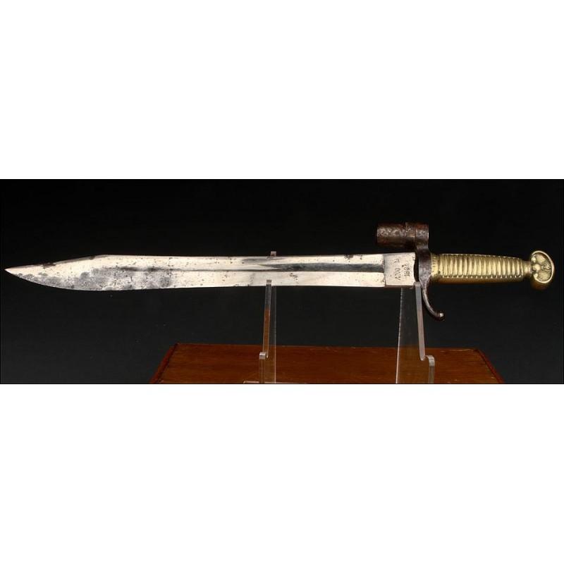 Auténtico Machete-Bayoneta Fabricado en Toledo en 1864. Modelo para Artillero y Soldado de Ingenieros
