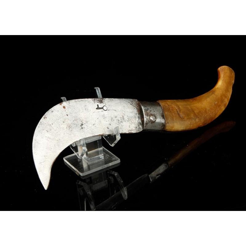 Antiguo Cuchillo o Navaja de Podar en Buenas Condiciones. Siglo XIX