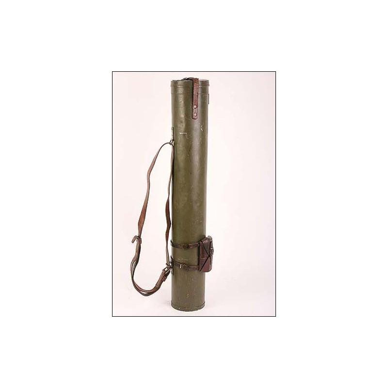 Telémetro alemán con su funda. Modelo 1941. 80 cms. INMACULADO.