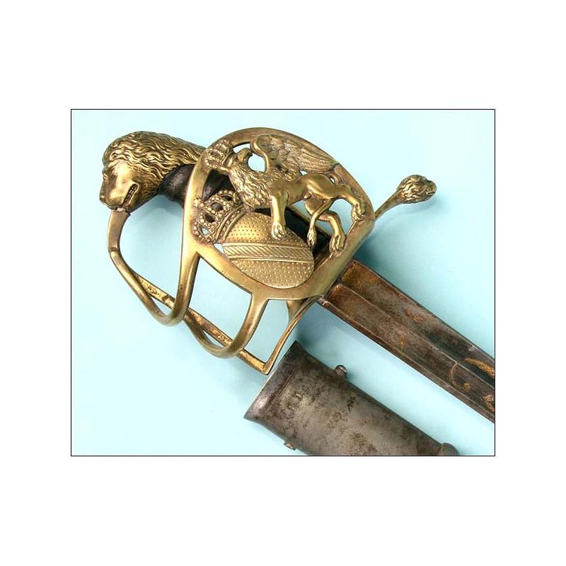Espada de caballería prusiana. Circa 1800