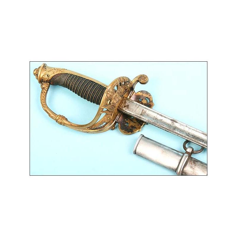 Sable Modelo 1868 para oficial de Carabineros.