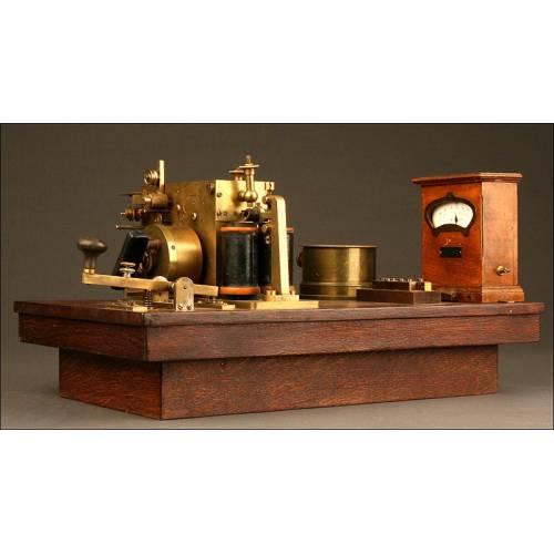 Original Estación Telegráfica Morse del Año 1880. Buen Estado