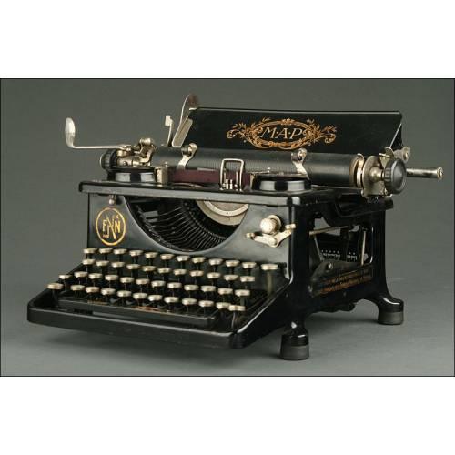 Excepcional Máquina de Escribir Francesa MAP, Fabricada en 1921. Bien Conservada y Funcionando
