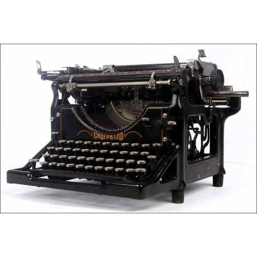Preciosa Máquina de Escribir Underwood Nº 5. Alemania, 1920. En Buen Estado y Funcionando
