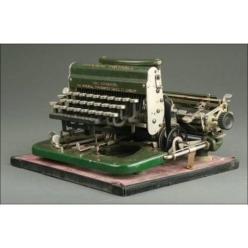 Preciosa Máquina de Escribir Inglesa Imperial D, 1919. Con Teclado Desmontable y Funcionando