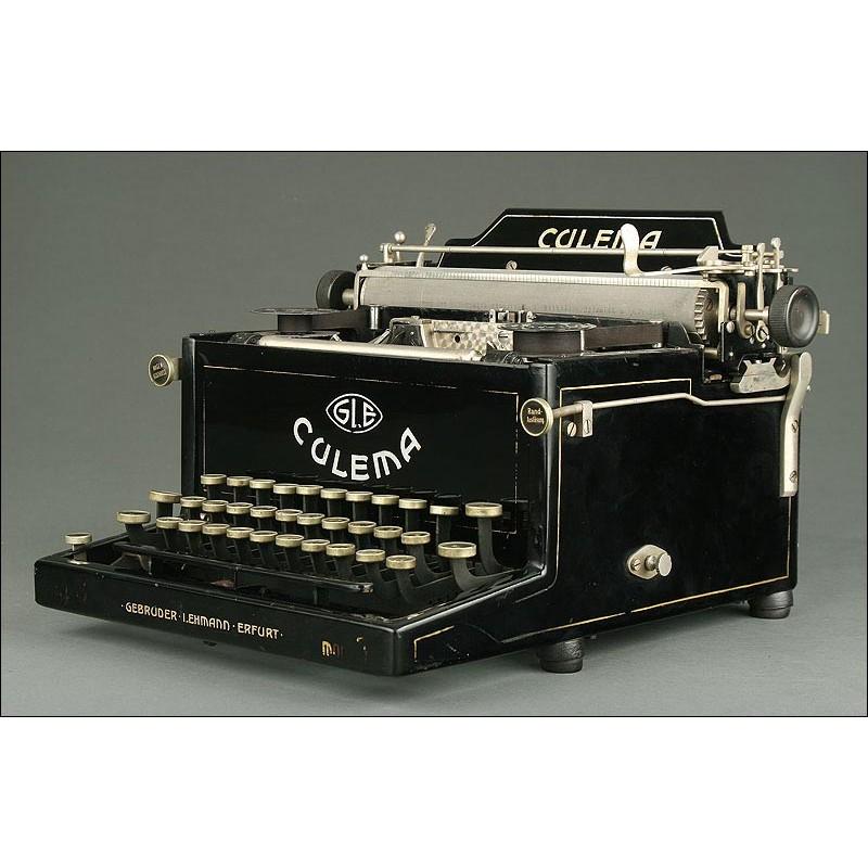 Rarísima Máquina de Escribir Alemana Culema, Año 1919. Antigua y en Buen Estado de Funcionamiento