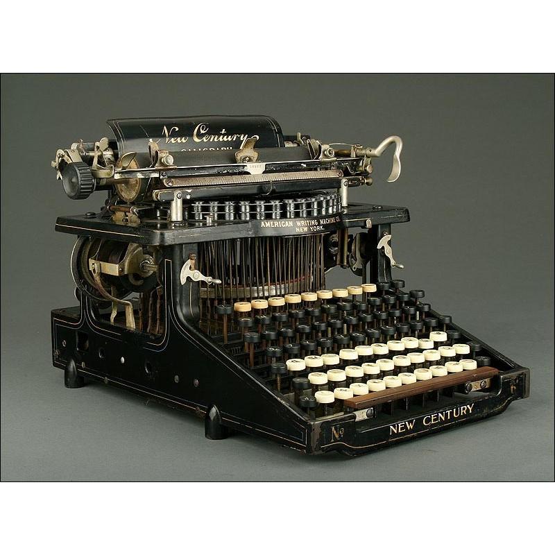 Antigua Máquina de Escribir Norteamericana Caligraph New Century Nº 5, Año 1900. Funcionando