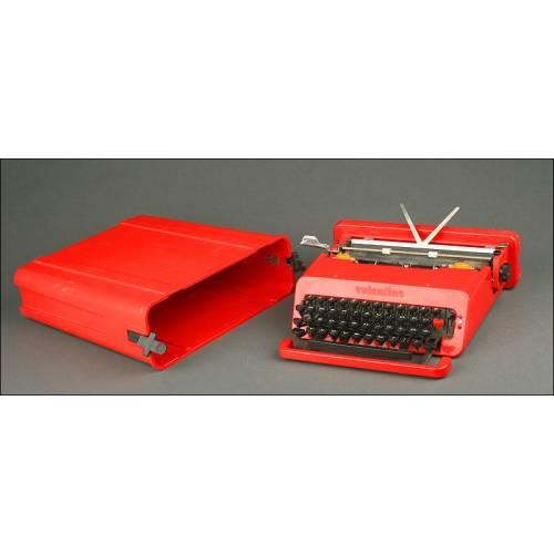 Máquina de Escribir Italiana Olivetti Valentine de 1969. Bien Conservada y en Perfecto Funcionamiento