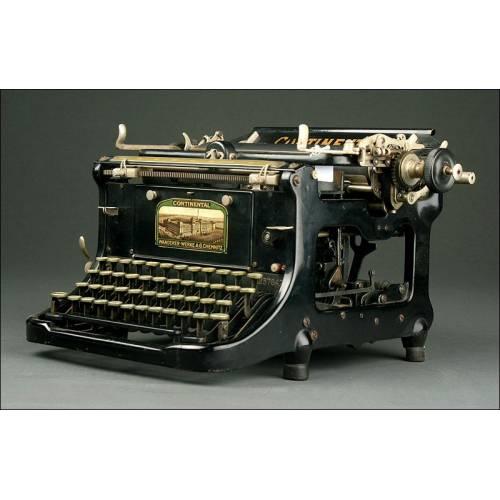 Bonita Máquina de Escribir Continental Standard, Ca. 1.915. Funcionando Como el Primer Día