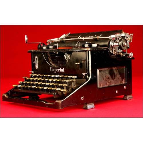 Distinguida Máquina de Escribir Imperial, Inglaterra, 1916. Funcionando a la Perfección