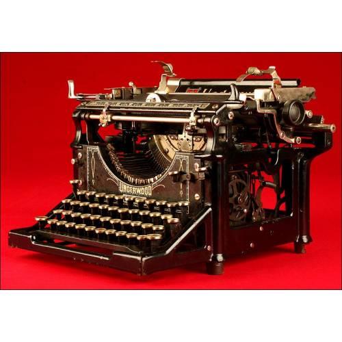 Hermosa Máquina de Escribir Marca Underwood 5,1920. Funcionando.