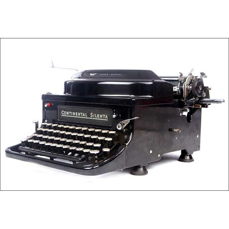 Preciosa Máquina de Escribir Continental Silenta. Alemania, Años 30. Perfectamente Conservada y Funcionando
