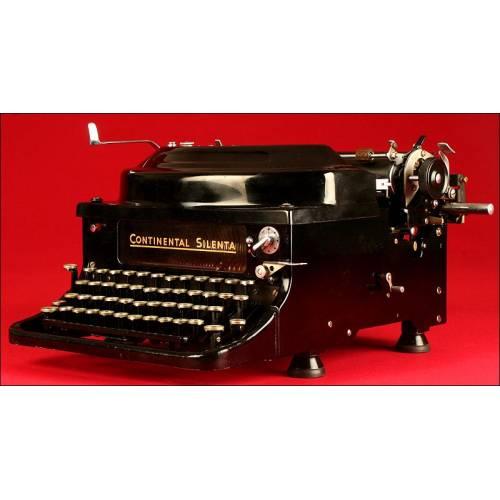 Atractiva Máquina de Escribir Continental Silenta, 1934. En Perfecto Estado de Funcionamiento