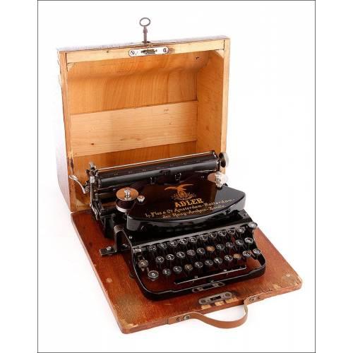 Fantástica Máquina de Escribir Adler 7 en Buen Estado. Alemania, Años 30. Funcionando Perfectamente